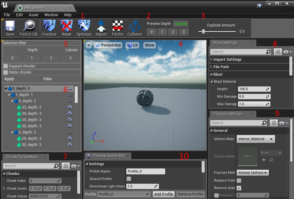 Blast UE4 Mesh Editor — Blast Artist Tools 1 0 documentation